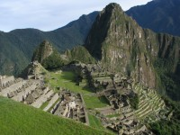 Machu Picchu in the Peruvian Andes