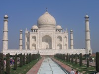 Front view of the Taj Mahal in India