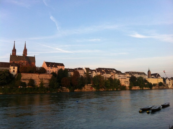 View over Basel's promenade