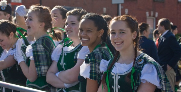 Girls at Saint Patrick's Day Parade