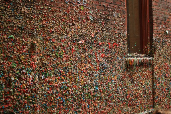 Part of the Gum Wall in Seattle