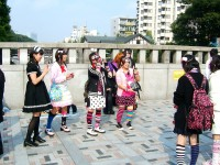 Girls on the streets of Harajuku