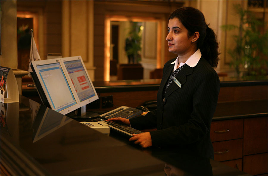 Friendly Staff At Hotel Front Desk