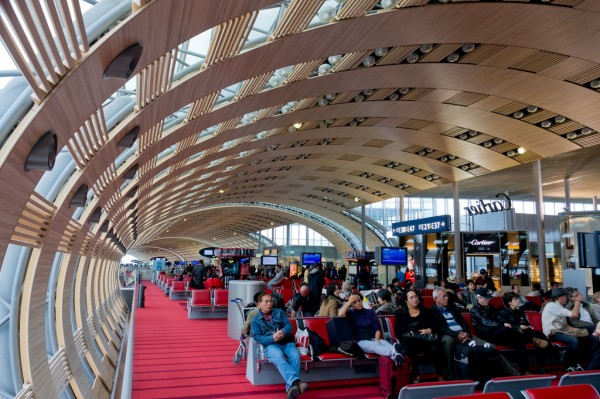 Charles de Gaulle airport waiting room