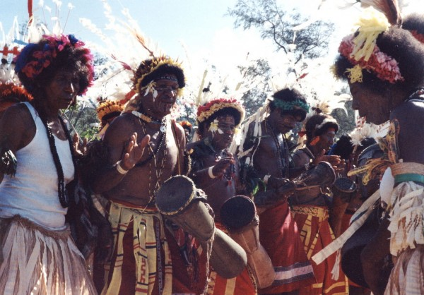 Papua New Guinea drummers