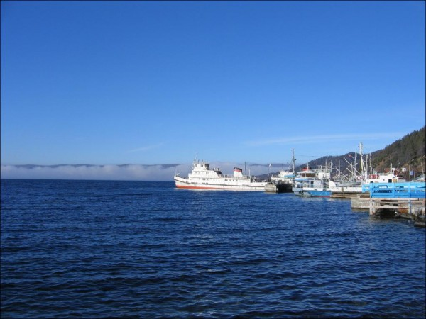 Boats on Lake Baikal