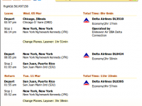 Chicago to San Juan flight with Delta under $300