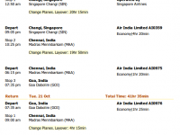 Air India flight from SFO to Goa in October for $1305